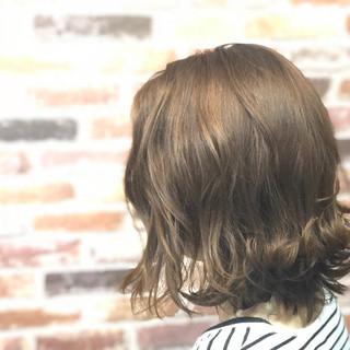 ナチュラル 外国人風 ボブ 外ハネ ヘアスタイルや髪型の写真・画像