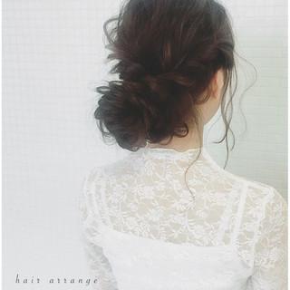 ロング ヘアアレンジ 外国人風 お団子 ヘアスタイルや髪型の写真・画像