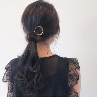 女子会 結婚式 セミロング 外国人風 ヘアスタイルや髪型の写真・画像