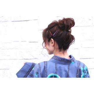 ルーズ 夏 花火大会 お団子 ヘアスタイルや髪型の写真・画像 ヘアスタイルや髪型の写真・画像