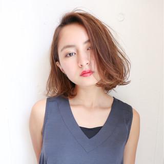 外国人風 パーマ ボブ モード ヘアスタイルや髪型の写真・画像