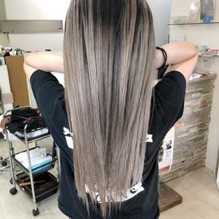 外国人風カラー トリートメント ハイライト バレイヤージュ ヘアスタイルや髪型の写真・画像
