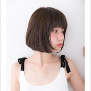 暗髪 アッシュ ナチュラル 色気 ヘアスタイルや髪型の写真・画像