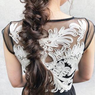 大人女子 ロング 結婚式 アンニュイ ヘアスタイルや髪型の写真・画像