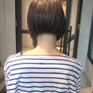 ストレート ナチュラル ショートボブ ミニボブ ヘアスタイルや髪型の写真・画像