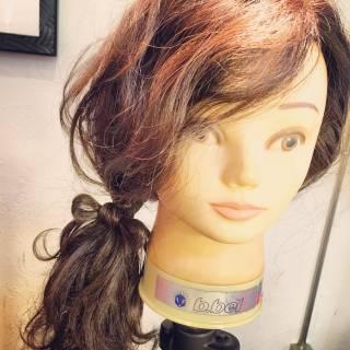 ウェーブ 簡単ヘアアレンジ 大人かわいい 春 ヘアスタイルや髪型の写真・画像
