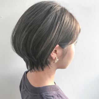 ショートボブ 大人女子 ショート ナチュラル ヘアスタイルや髪型の写真・画像
