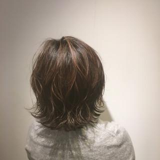 外国人風カラー 切りっぱなしボブ 外国人風 ナチュラル ヘアスタイルや髪型の写真・画像