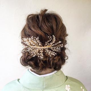 結婚式 ヘアアレンジ ロング アップスタイル ヘアスタイルや髪型の写真・画像