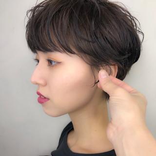 デート ナチュラル ショートヘア 大人かわいい ヘアスタイルや髪型の写真・画像