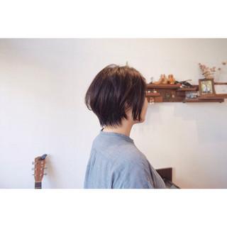 ショート ナチュラル ショートボブ デート ヘアスタイルや髪型の写真・画像