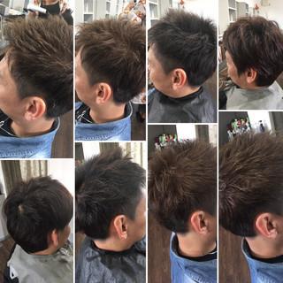 スライシングハイライト ストリート ショート 黒髪 ヘアスタイルや髪型の写真・画像