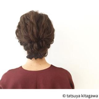 大人かわいい 花嫁 ミディアム ヘアアレンジ ヘアスタイルや髪型の写真・画像