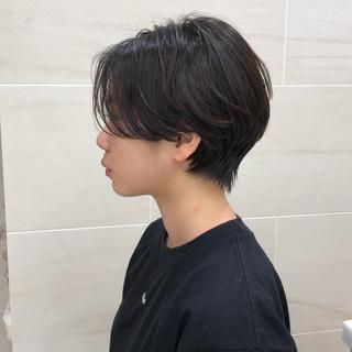 小顔ショート ショートボブ ショート 黒髪 ヘアスタイルや髪型の写真・画像