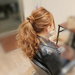 ポニーテール ロング ヘアアレンジ アップスタイル ヘアスタイルや髪型の写真・画像