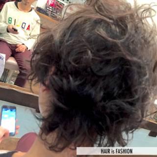 黒髪 ロング パーマ ボーイッシュ ヘアスタイルや髪型の写真・画像