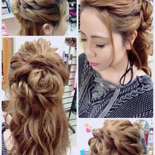 ロング 結婚式 上品 ヘアアレンジ ヘアスタイルや髪型の写真・画像 ヘアスタイルや髪型の写真・画像