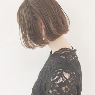 津村正和/大阪/切りっぱなしボブ/グレージュさんのヘアスナップ