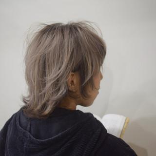 ナチュラル ホワイトベージュ ショート ミルクティーベージュ ヘアスタイルや髪型の写真・画像