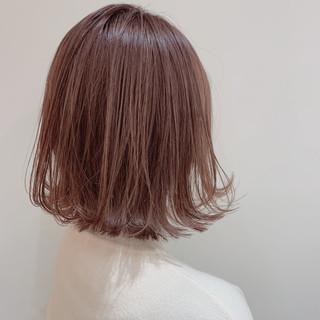 ミニボブ ブリーチカラー 外ハネボブ ボブ ヘアスタイルや髪型の写真・画像