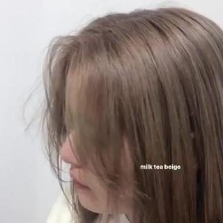 ナチュラル ヌーディベージュ ミルクティーベージュ ピンクベージュ ヘアスタイルや髪型の写真・画像