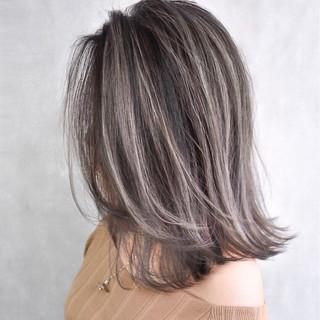 外国人風 バレイヤージュ ハイライト 外国人風カラー ヘアスタイルや髪型の写真・画像