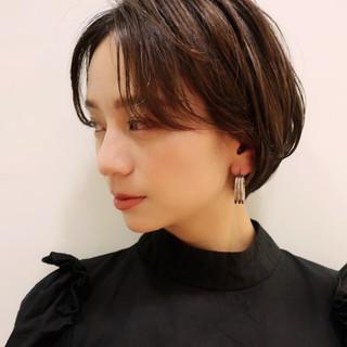 ショート ショートヘア 小顔ヘア ハンサムショート ヘアスタイルや髪型の写真・画像