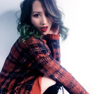 ストリート 渋谷系 ブリーチ 暗髪 ヘアスタイルや髪型の写真・画像