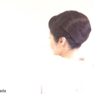 着物 アップスタイル ヘアアレンジ セミロング ヘアスタイルや髪型の写真・画像