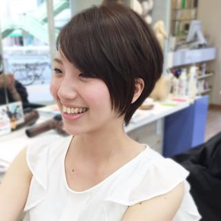 マニッシュ 黒髪 ストレート ナチュラル ヘアスタイルや髪型の写真・画像