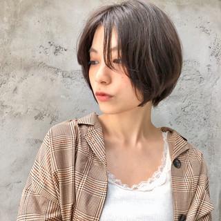 インナーカラー ナチュラル ミニボブ ショートヘア ヘアスタイルや髪型の写真・画像