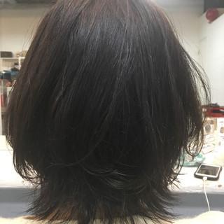 デート ナチュラル 黒髪 オフィス ヘアスタイルや髪型の写真・画像