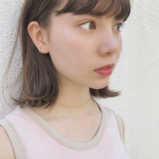 大人かわいい アンニュイほつれヘア ミディアム ゆるふわ ヘアスタイルや髪型の写真・画像
