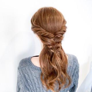 簡単ヘアアレンジ ショート セミロング 上品 ヘアスタイルや髪型の写真・画像