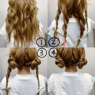 セルフヘアアレンジ ロング ヘアアレンジ ふわふわヘアアレンジ ヘアスタイルや髪型の写真・画像