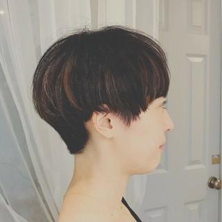前髪あり ナチュラル ショート 色気 ヘアスタイルや髪型の写真・画像