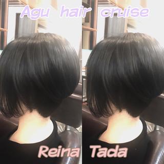 上品 くすみカラー グレー モード ヘアスタイルや髪型の写真・画像