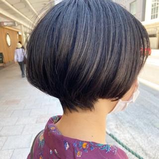 大人ショート ハンサムショート ミニボブ ショート ヘアスタイルや髪型の写真・画像