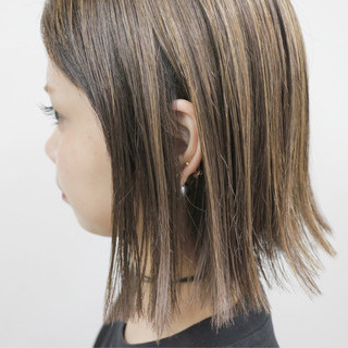 外国人風 モード ハイライト 大人かわいい ヘアスタイルや髪型の写真・画像