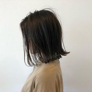 ミディアム 涼しげ ナチュラル 色気 ヘアスタイルや髪型の写真・画像