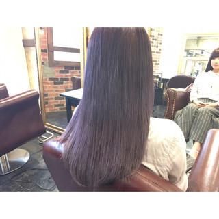 黒髪 ロング ストリート アッシュ ヘアスタイルや髪型の写真・画像