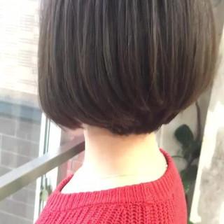 ヘアアレンジ 韓国ヘア グレージュ ボブ ヘアスタイルや髪型の写真・画像