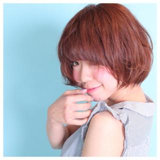 ゆるふわ ショート モテ髪 ガーリー ヘアスタイルや髪型の写真・画像 ヘアスタイルや髪型の写真・画像