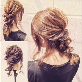 ゆるふわ 簡単ヘアアレンジ 外国人風 ショート ヘアスタイルや髪型の写真・画像