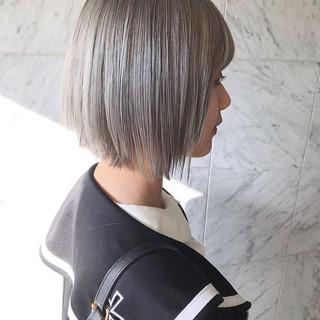 ハイトーン ブリーチ ボブ モード ヘアスタイルや髪型の写真・画像