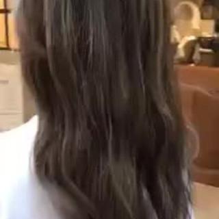 外国人風 ゆるふわ ロング ハイライト ヘアスタイルや髪型の写真・画像