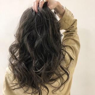 エレガント グレージュ 外国人風カラー ツヤ髪 ヘアスタイルや髪型の写真・画像