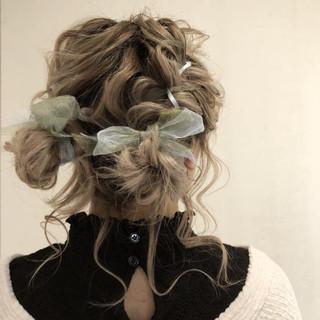 ヘアアレンジ デート 成人式 ガーリー ヘアスタイルや髪型の写真・画像