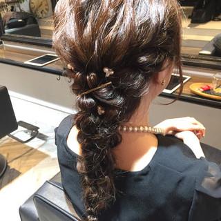 結婚式 花火大会 お祭り デート ヘアスタイルや髪型の写真・画像