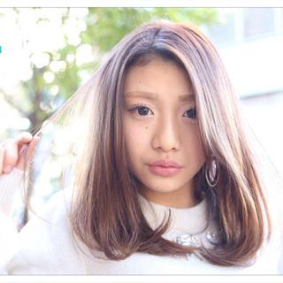 デート モテ髪 セミロング 外国人風 ヘアスタイルや髪型の写真・画像